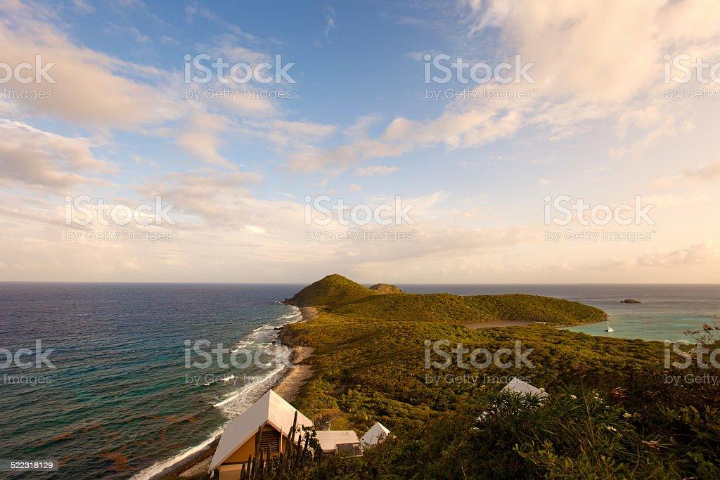 views of Ram Head and Salt Pond Bay, St.John, USVI stock photo