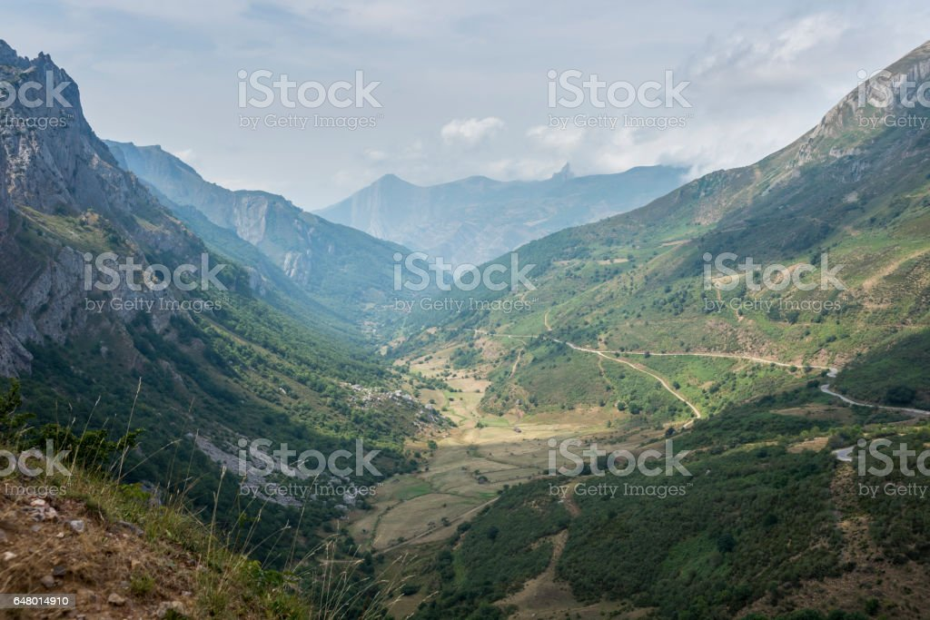 Views of Saliencia Valley stock photo