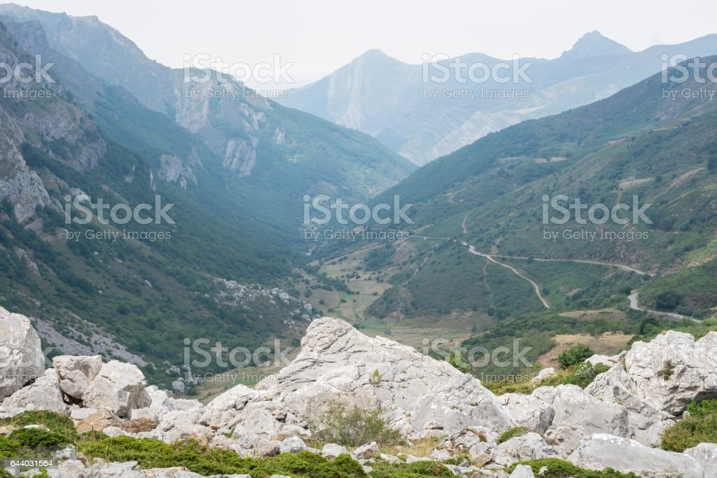 Views of Saliencia Valley, Somiedo Nature Reserve stock photo