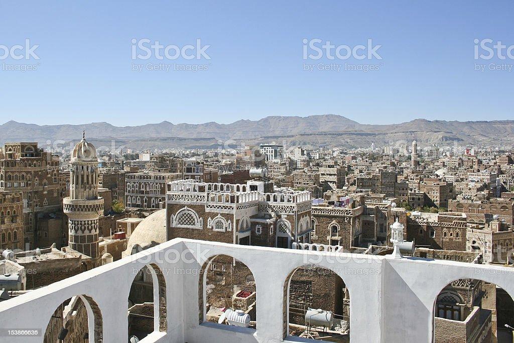 Views of Sanaa, Yemen. royalty-free stock photo