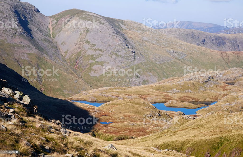 Views of Sprinking Tarn in the Lake District stock photo