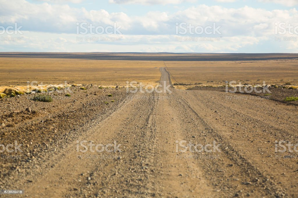 Views of steppe landscape of Pampas, Argentina stock photo