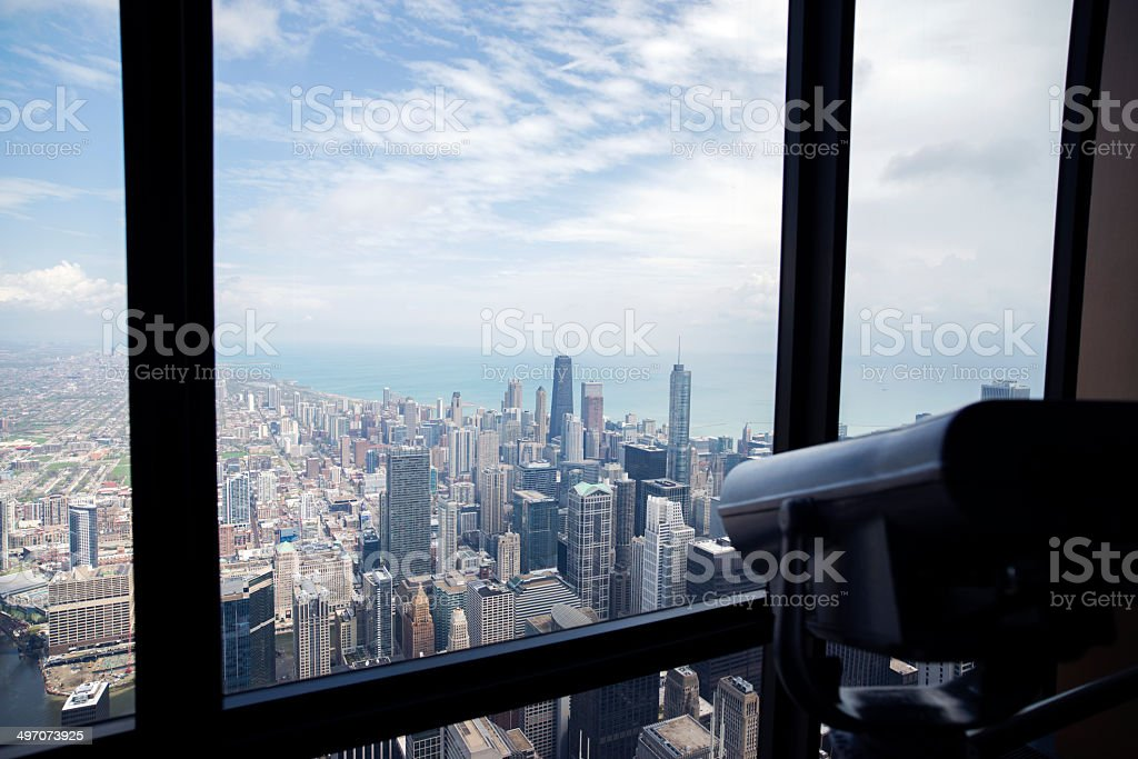 Views of the beautiful Chicago stock photo