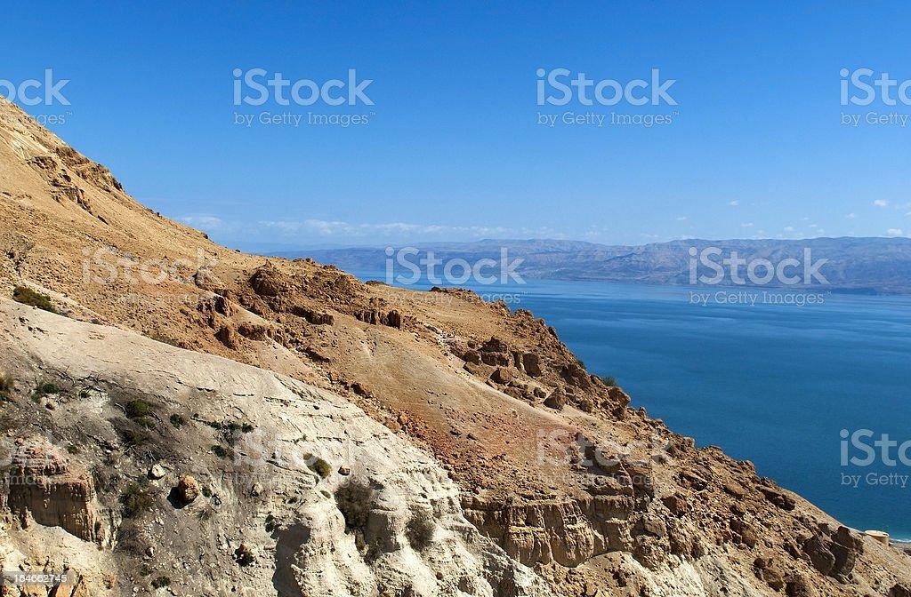 views of the Dead Sea stock photo