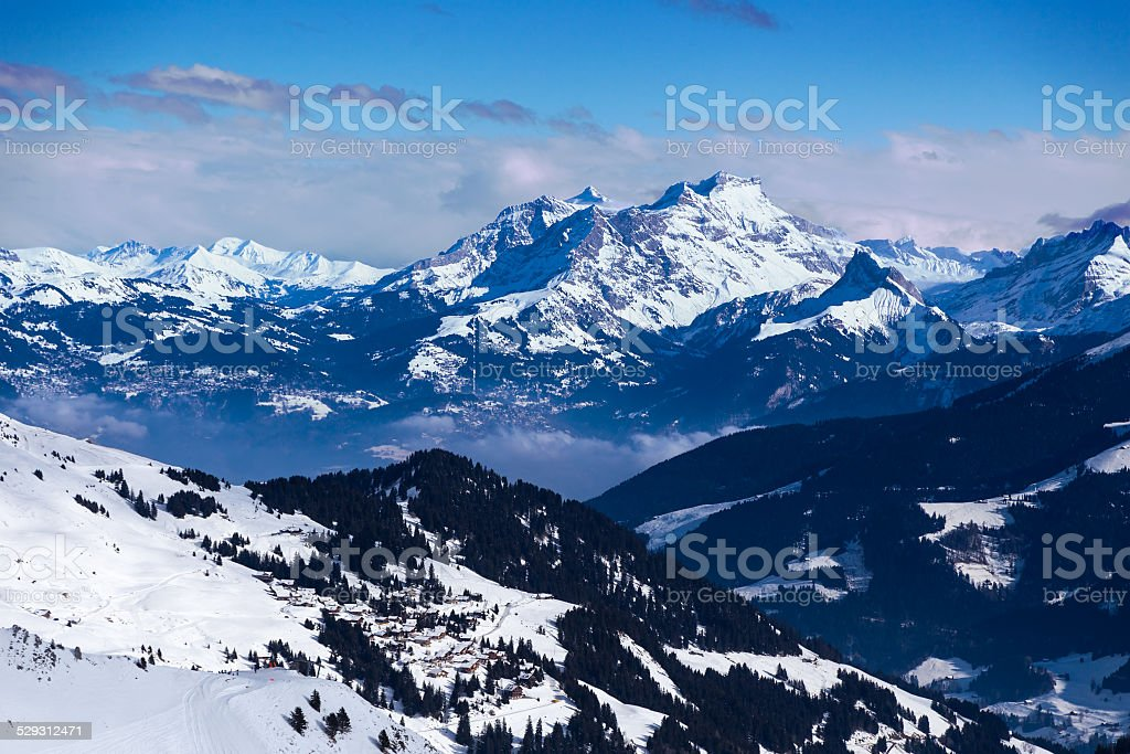 Views of the Diablerets stock photo
