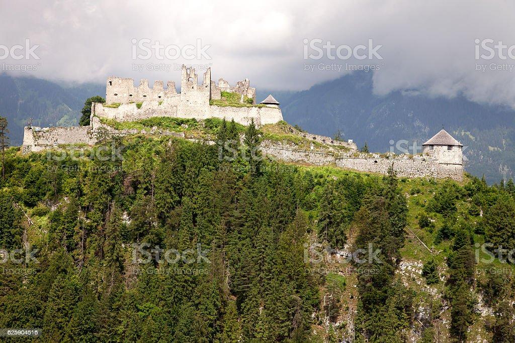 Views of the Ehrenberg castle ruins, Austria stock photo