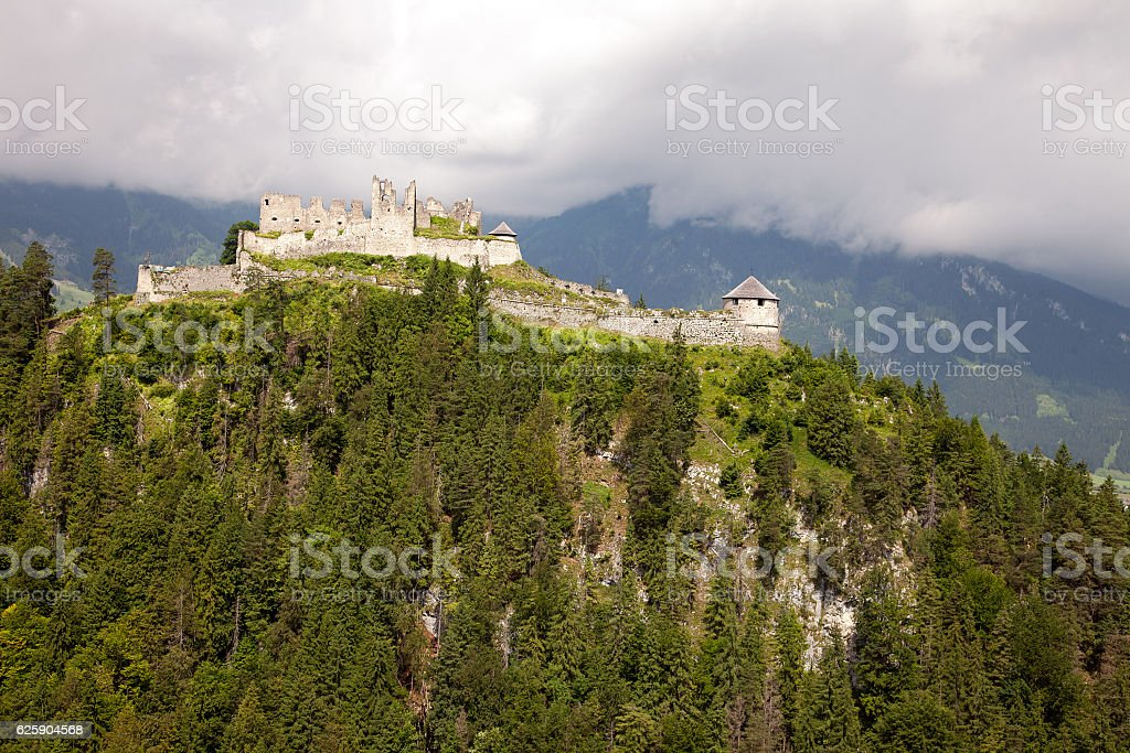 Views of the Ehrenberg castle ruins, Austria stock photo