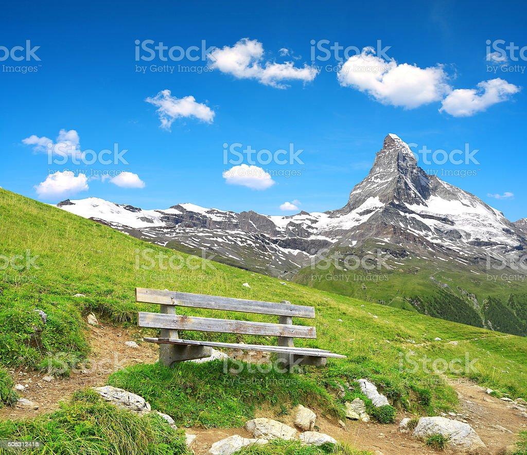 Views of the mountain Matterhorn stock photo