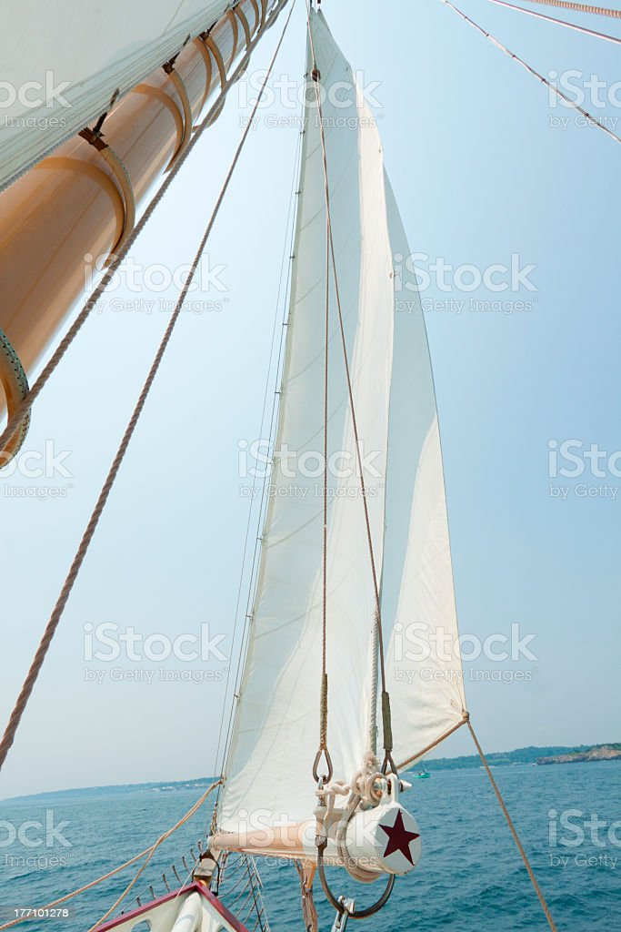 Views of the private sail yacht. royalty-free stock photo
