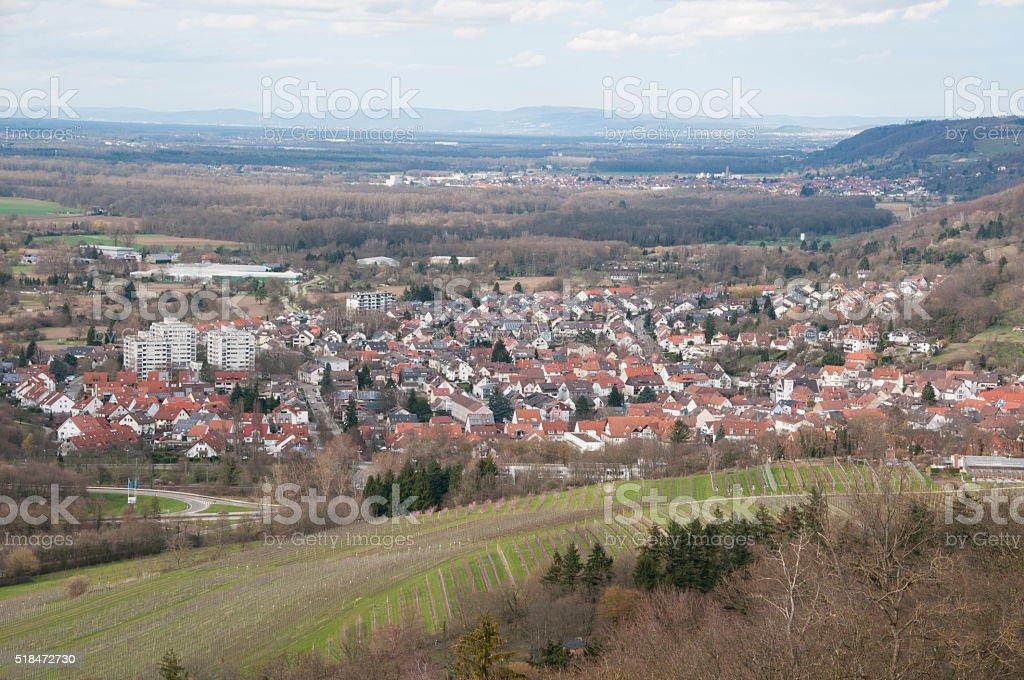 Views of the Rhine Valley near Karlsruhe stock photo
