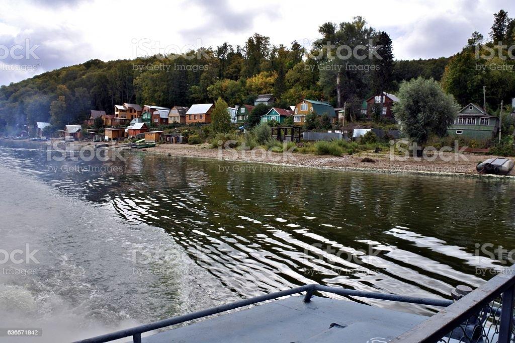 Views of the river Volga in the Kazan region stock photo