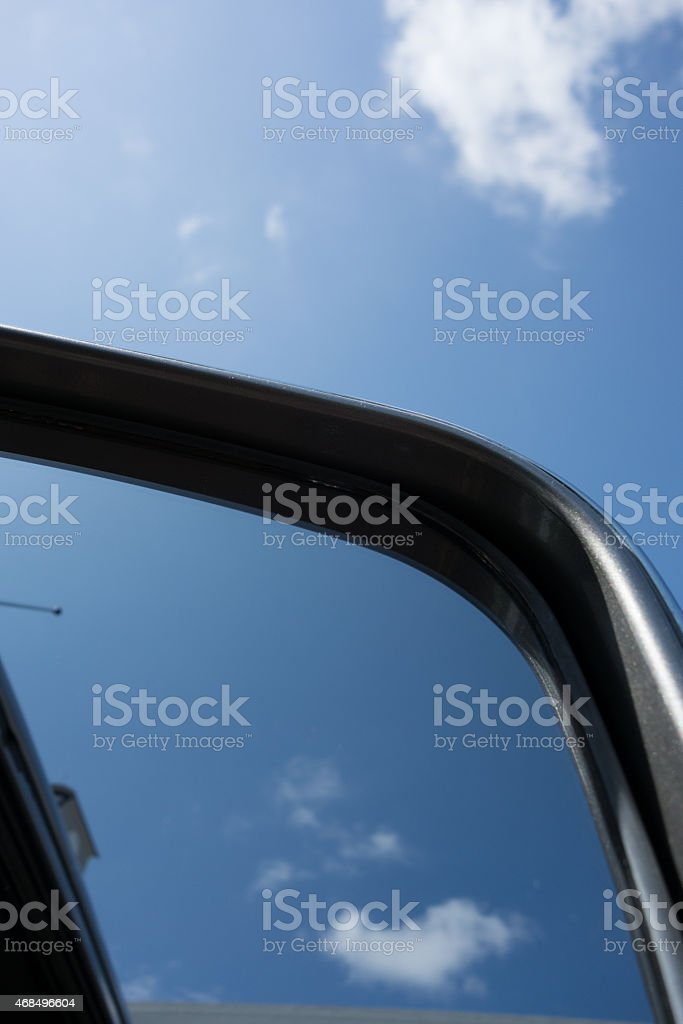 Views of the side mirror royalty-free stock photo