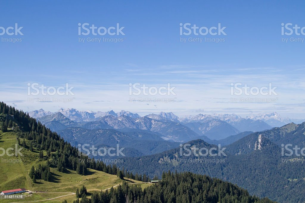 Views of the Wallberg mountain stock photo