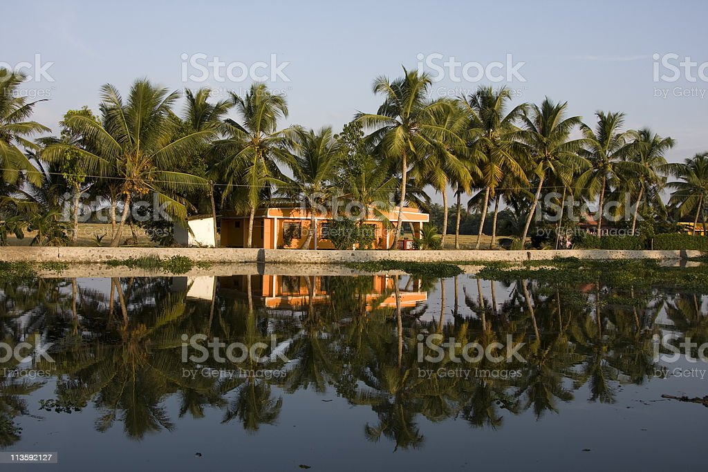 Views on Kerela Backwaters stock photo