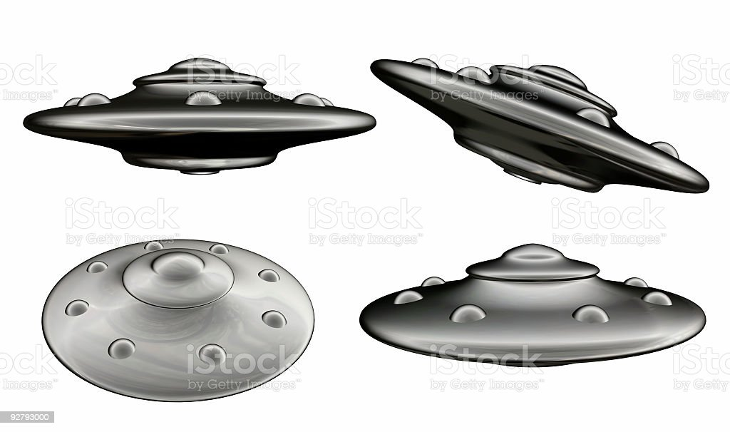 UFO views (Isolated) royalty-free stock photo