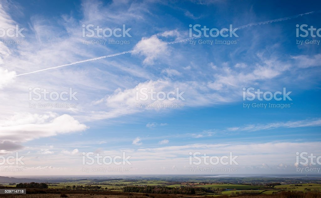 Views towards Morecambe bay from Quernmore stock photo