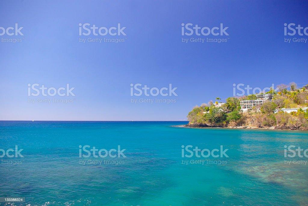 Vigie Peninsular ;breathtaking sea and horizon stock photo