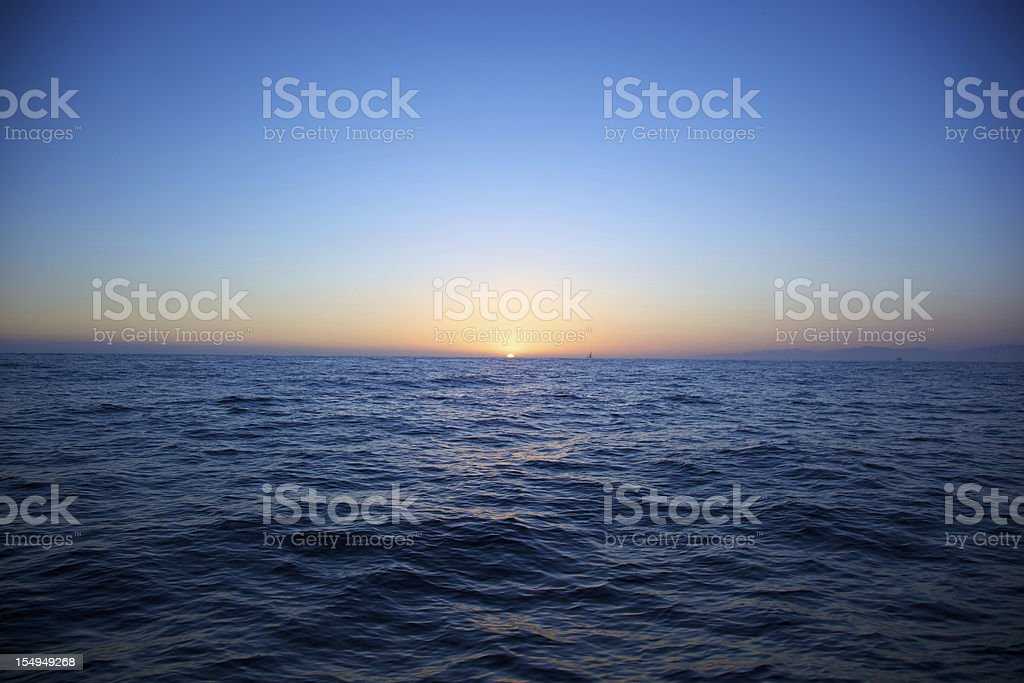 Vignette Sailing Sunset stock photo