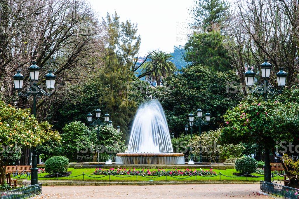 Vigo Gardon Plaza. stock photo