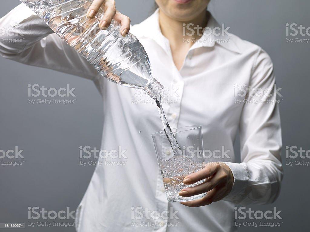 Vigorous drawing water stock photo
