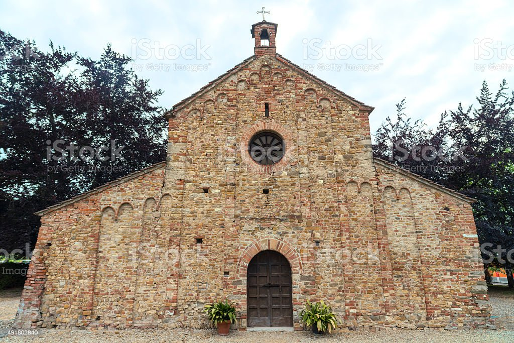 Viguzzolo, church stock photo