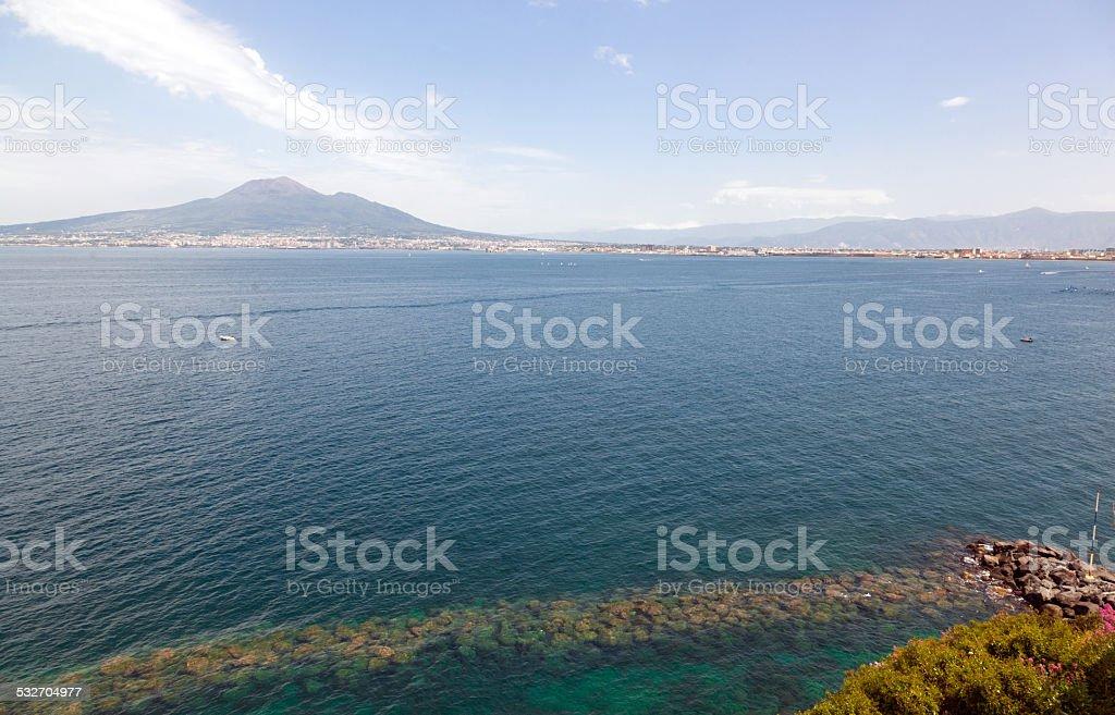 Viiew of the volcano Mount Vesuvius stock photo