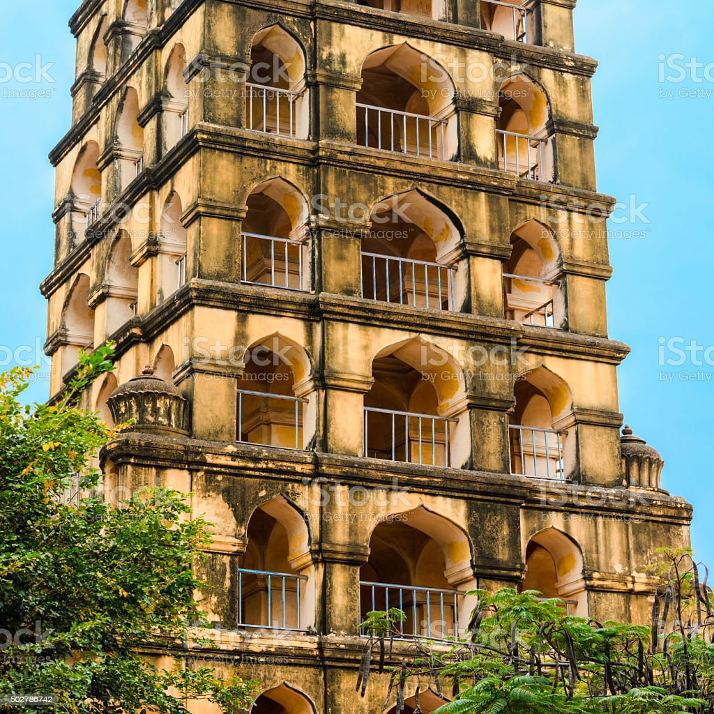 Vijaynagara Fort of Tanjore prominent  monument stock photo