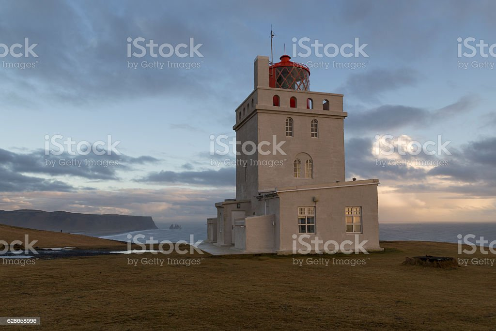 Vik Lighthouse, Iceland stock photo