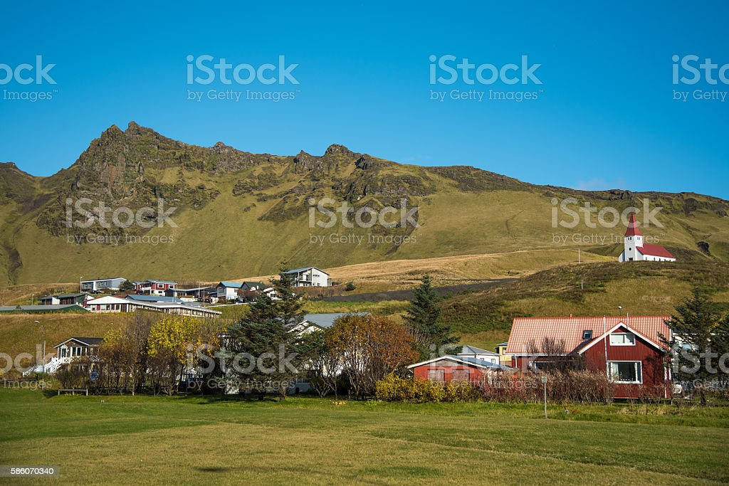Vik, little town in Southern Iceland stock photo