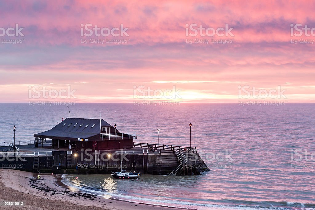 Viking Bay beach in Broadstairs, Thanet, Kent, England stock photo