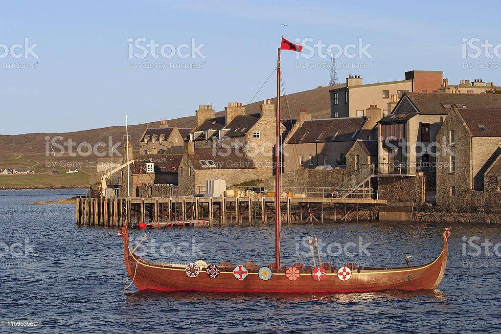 Viking boat. royalty-free stock photo