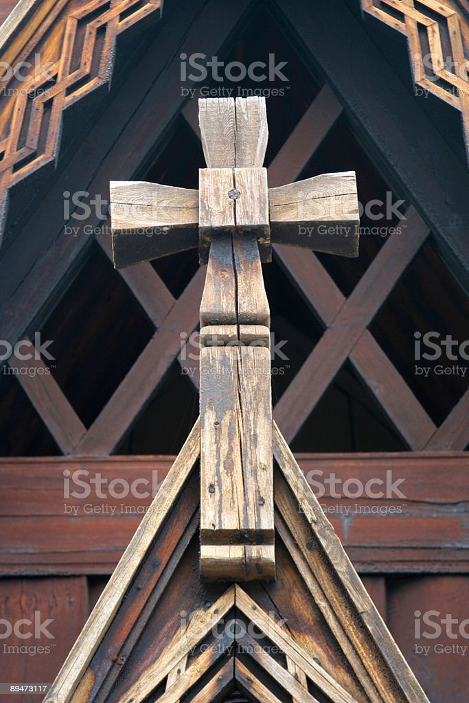 Viking Church Cross royalty-free stock photo