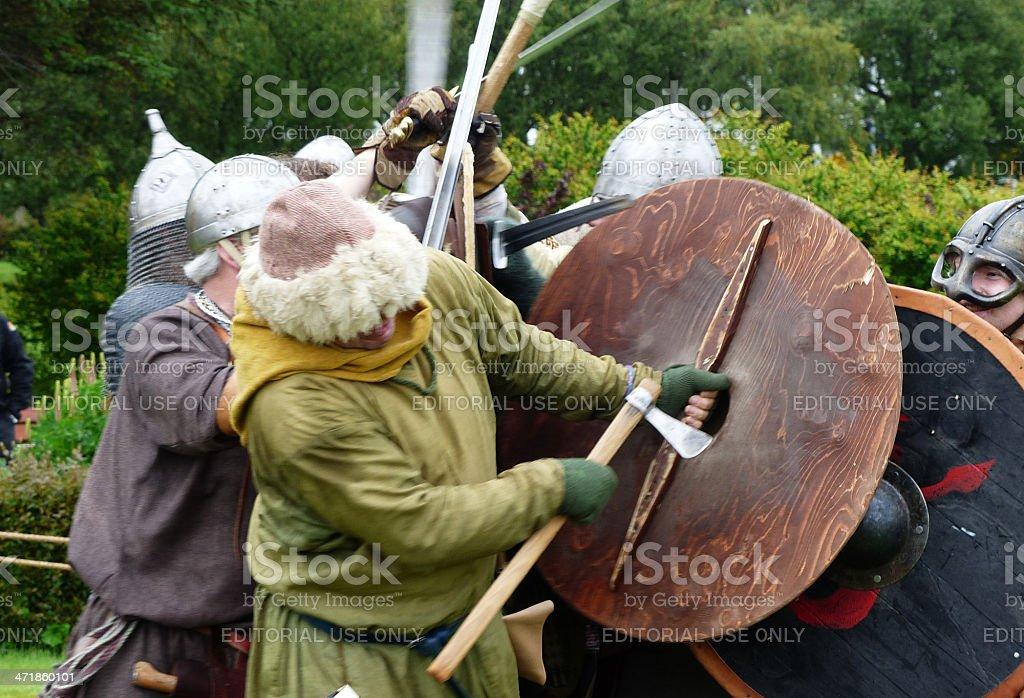 Viking combat royalty-free stock photo