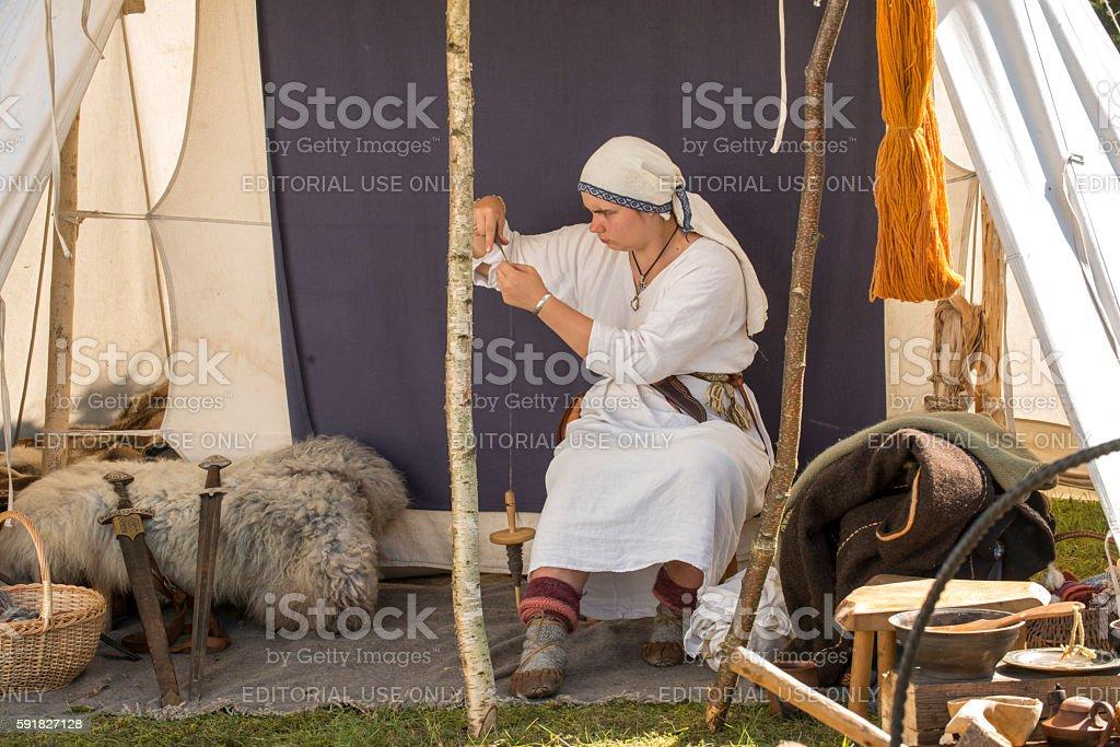 Viking days in Saaremaa stock photo