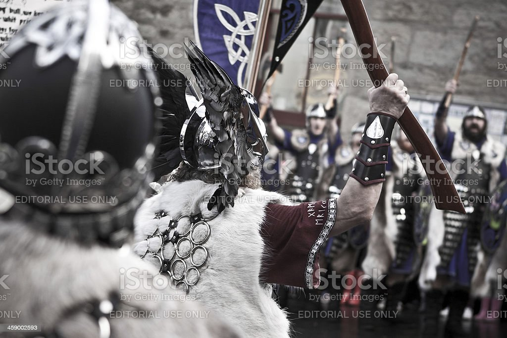 Viking Guizer Jarl of Up Helly Aa royalty-free stock photo