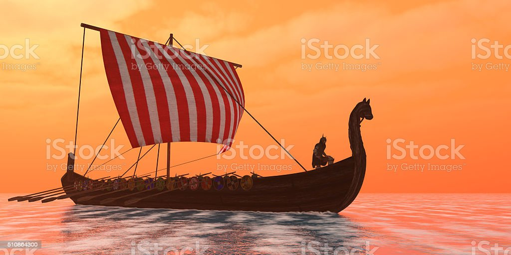 Viking Longship Ventures stock photo