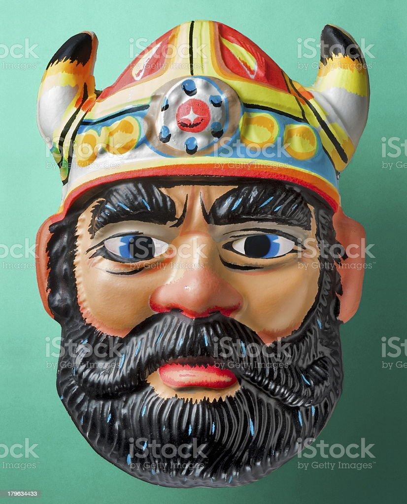 Viking Man Halloween Mask royalty-free stock photo