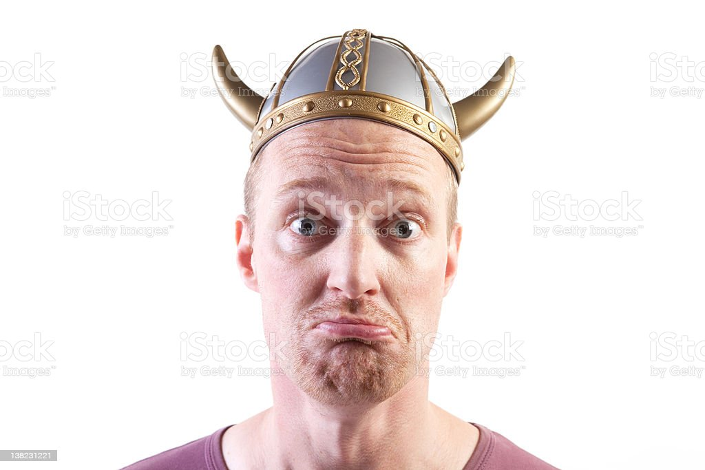 viking man isolated helmet royalty-free stock photo