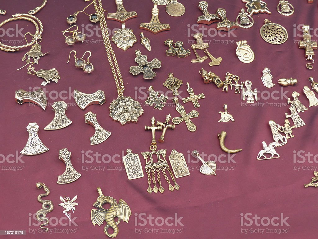 Viking merchandise stock photo