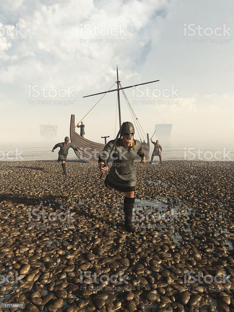 Viking Raid stock photo