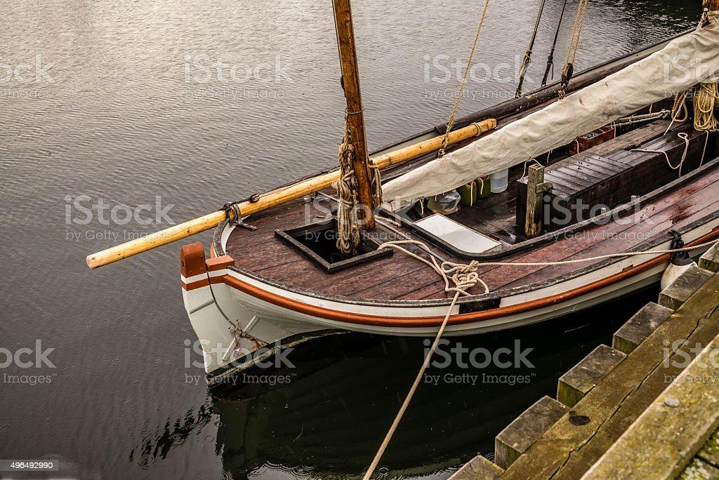 Viking sailing boat stock photo