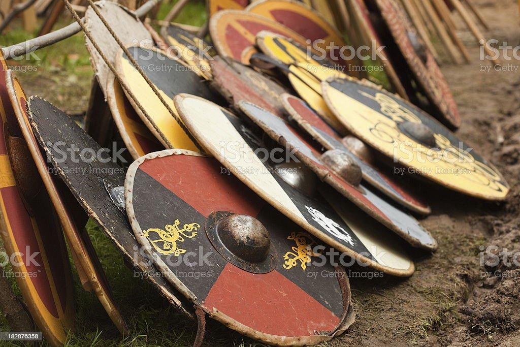 viking shields royalty-free stock photo