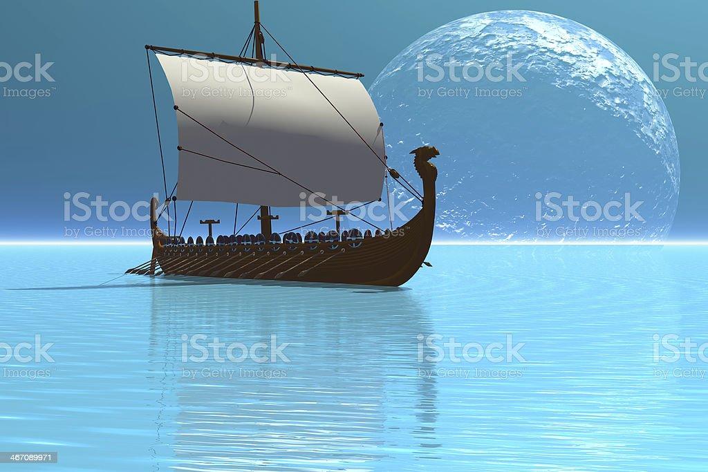 Viking Ship stock photo