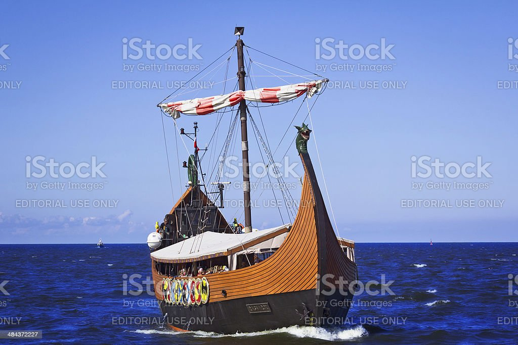 Viking Tourist Boat in Baltic cruise stock photo