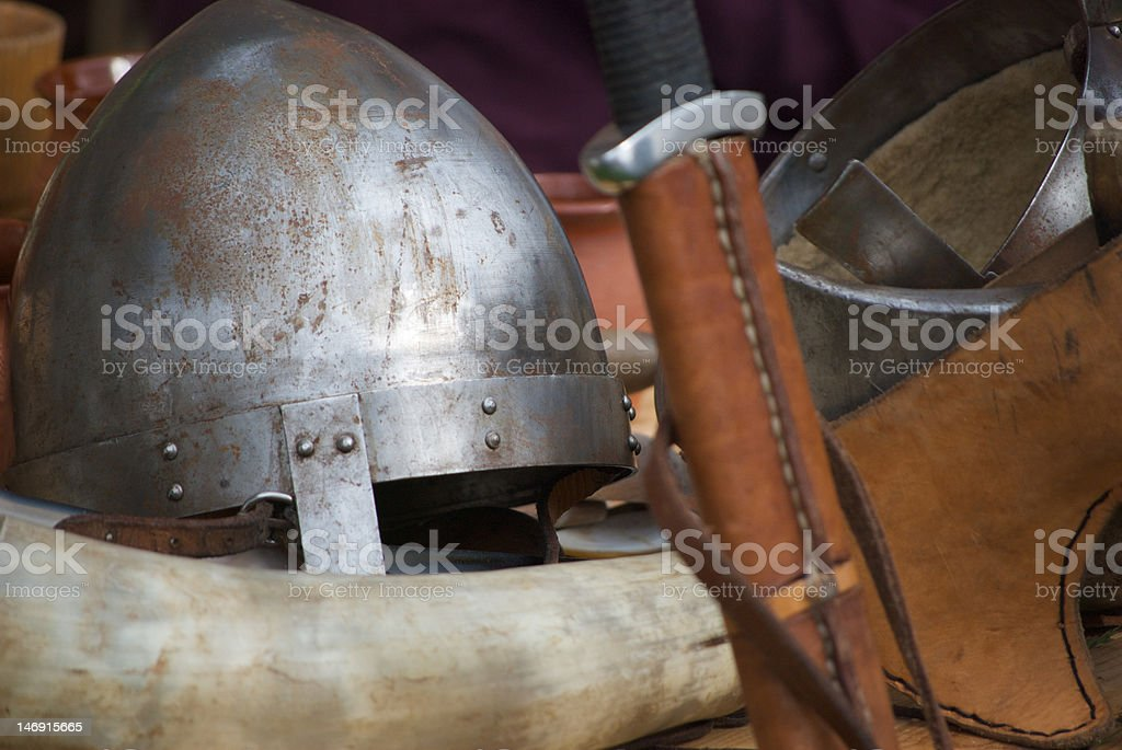 Viking Weaponry stock photo