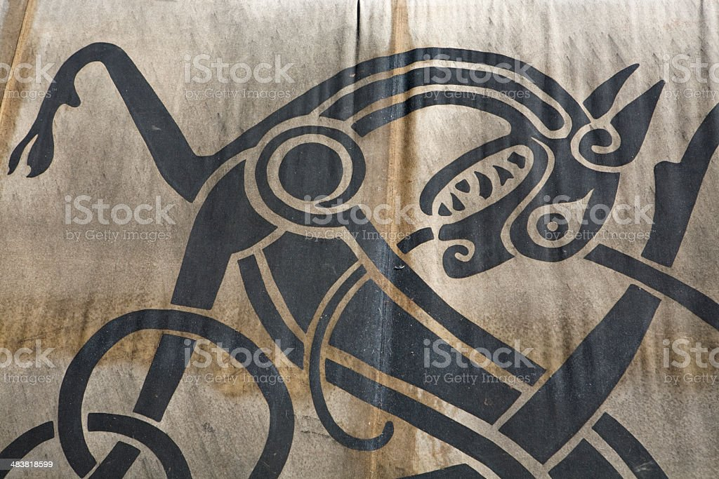 Viking wolf stock photo
