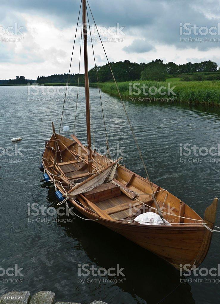 Vikinger boat stock photo