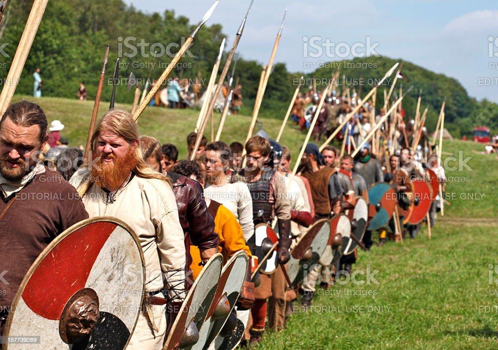 Vikings in Moesgaard stock photo