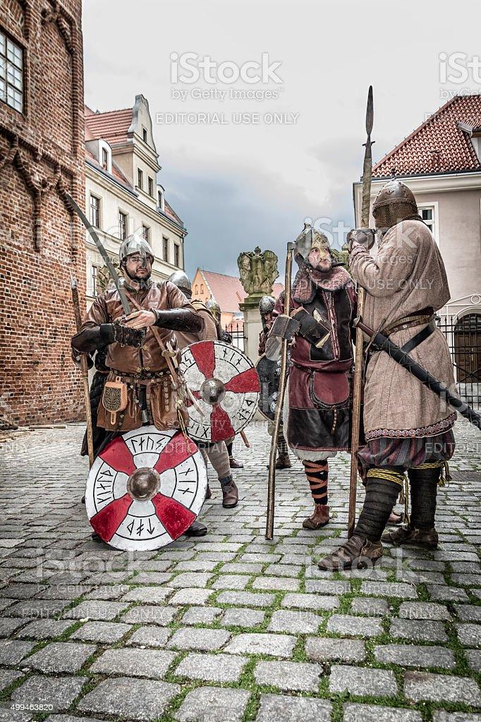 Vikings in Szczecin, Poland stock photo