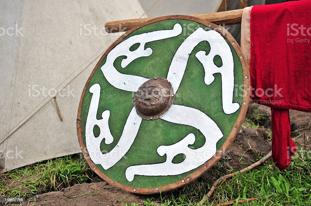 Vikings' shield royalty-free stock photo